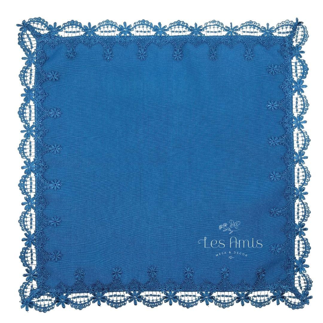 Guardanapo Linho c/ Guipir Azul