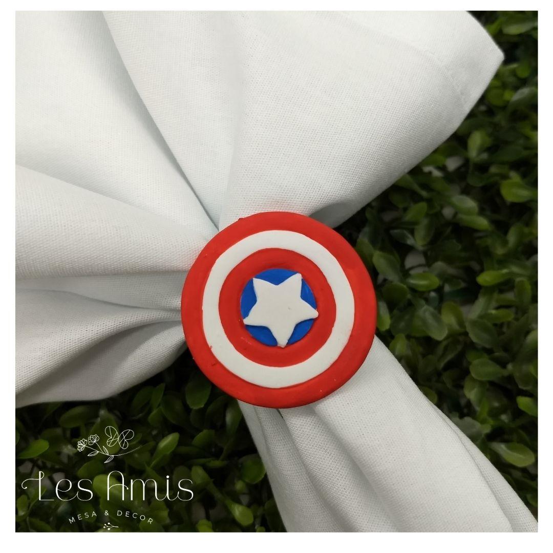 Porta Guardanapo Escudo Capitão América