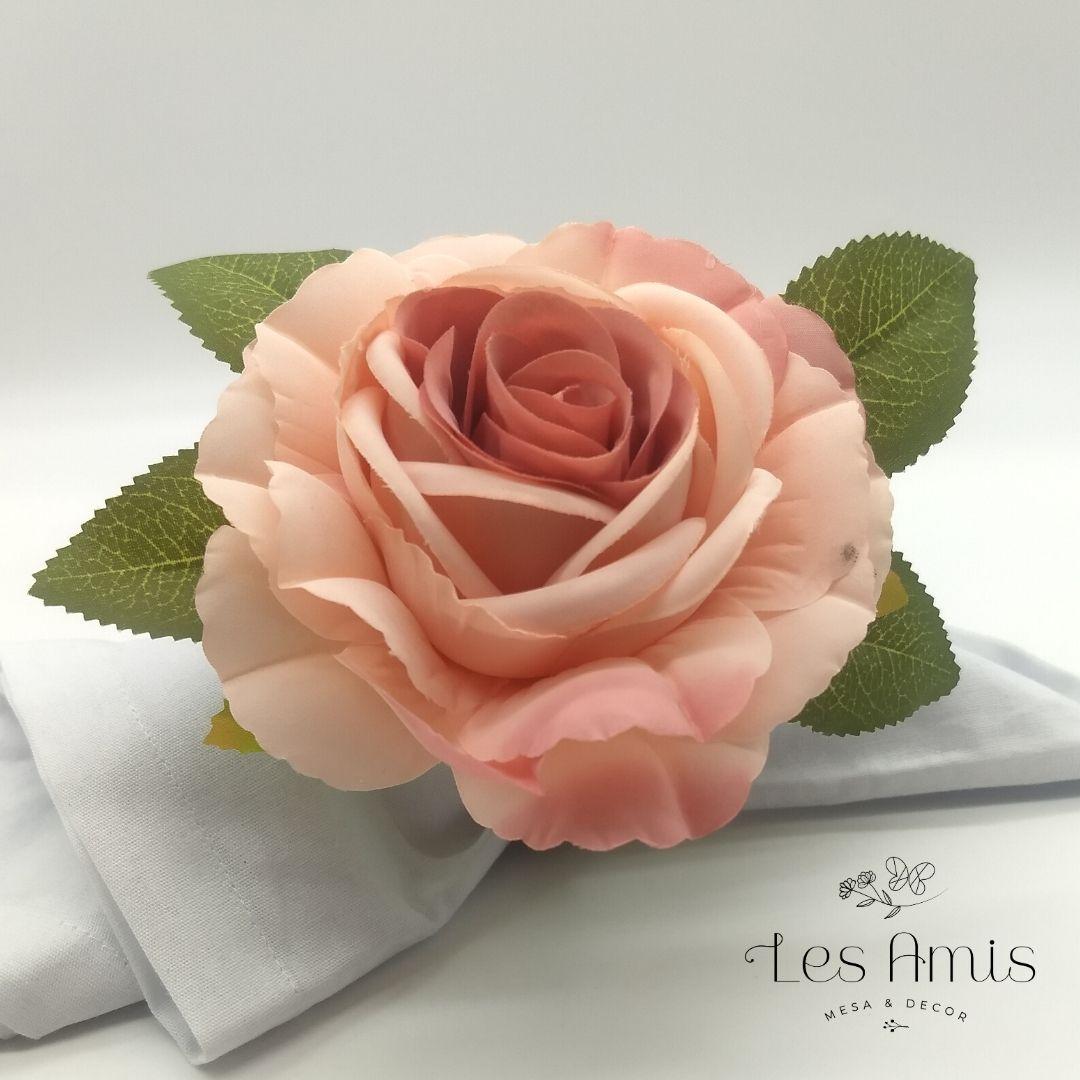 Porta Guardanapo Flor Inglesa Rosa Chá