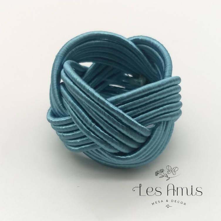 Porta Guardanapo Nó Infinito Azul Tiffany