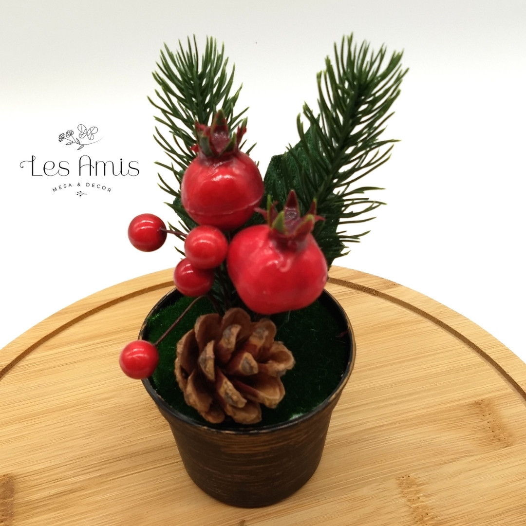 Vasinho Decorativo Berrys e Pinha