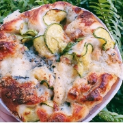 Focaccia Abobrinha e Gorgonzola