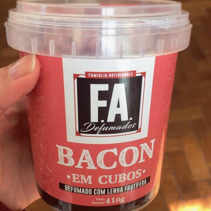 Bacon Artesanal FA 400g Cubos  - Beth Bakery