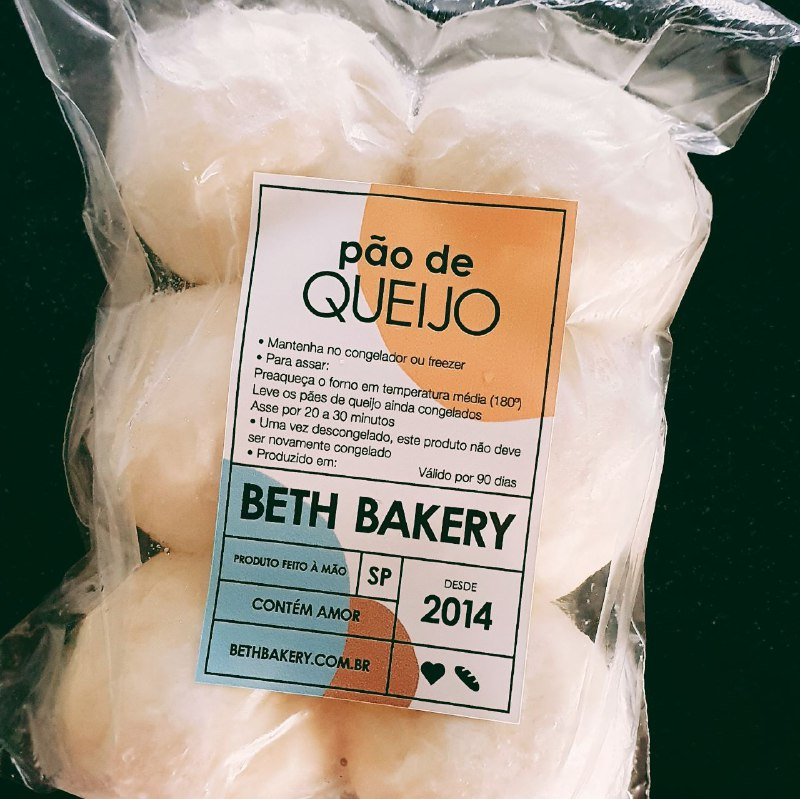Pão de Queijo Congelado - 360 gramas  - Beth Bakery
