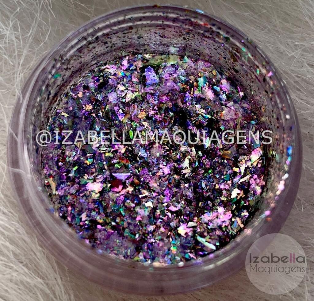 Glitter Multicromático Holográfico - Izabella Maquiagens
