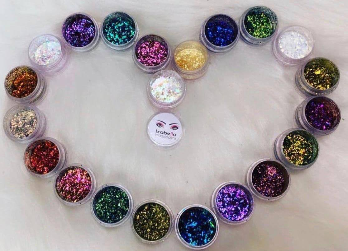 Glitter multicromático - Izabella Maquiagens