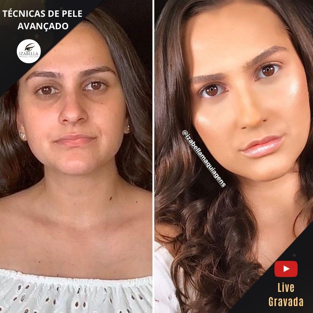 Curso Online - TÉCNICA DE PELE AVANÇADO  (Live Gravada)