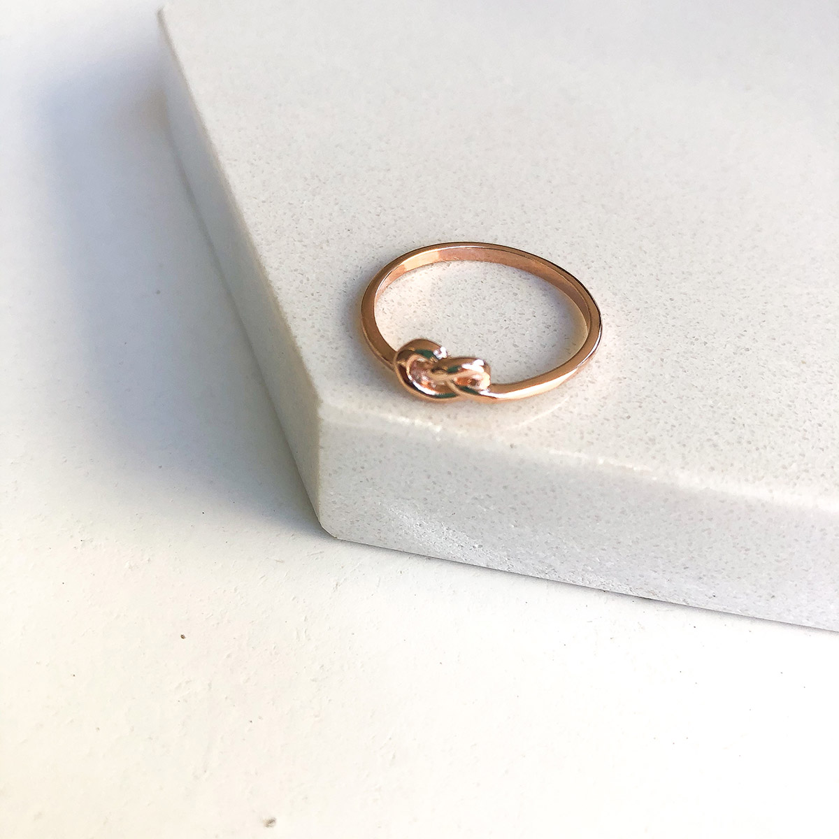 Anel Amarração em Prata 925 com Banho Rosé