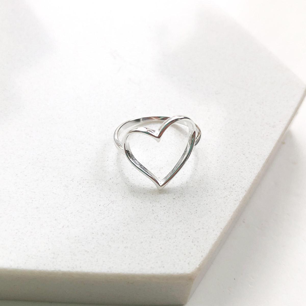 Anel de Prata Coração