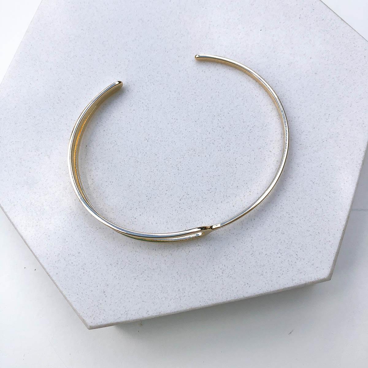 Bracelete Banhado a Ouro 18k Fio Vazado