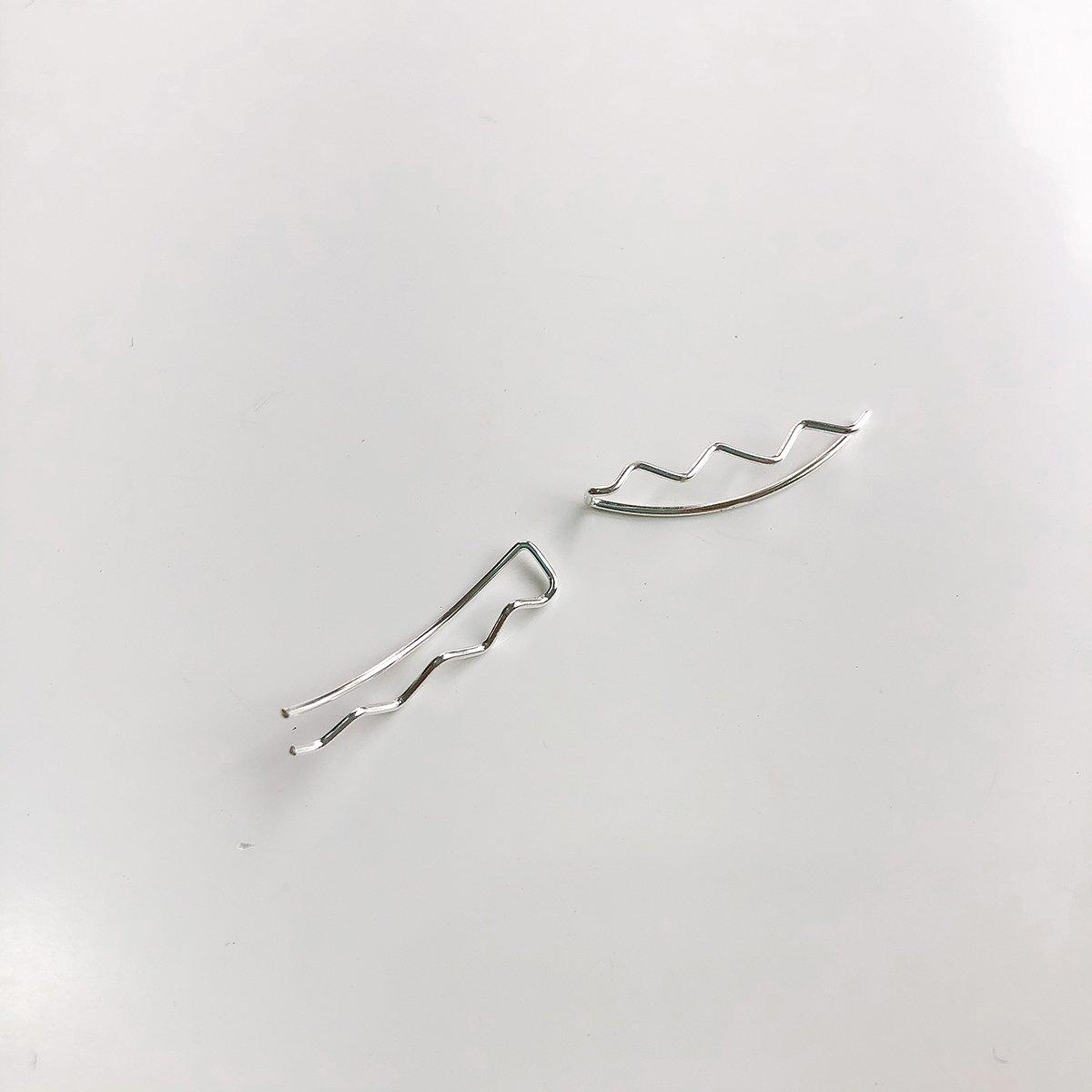 Brinco de Prata Ear cuff Design Traço