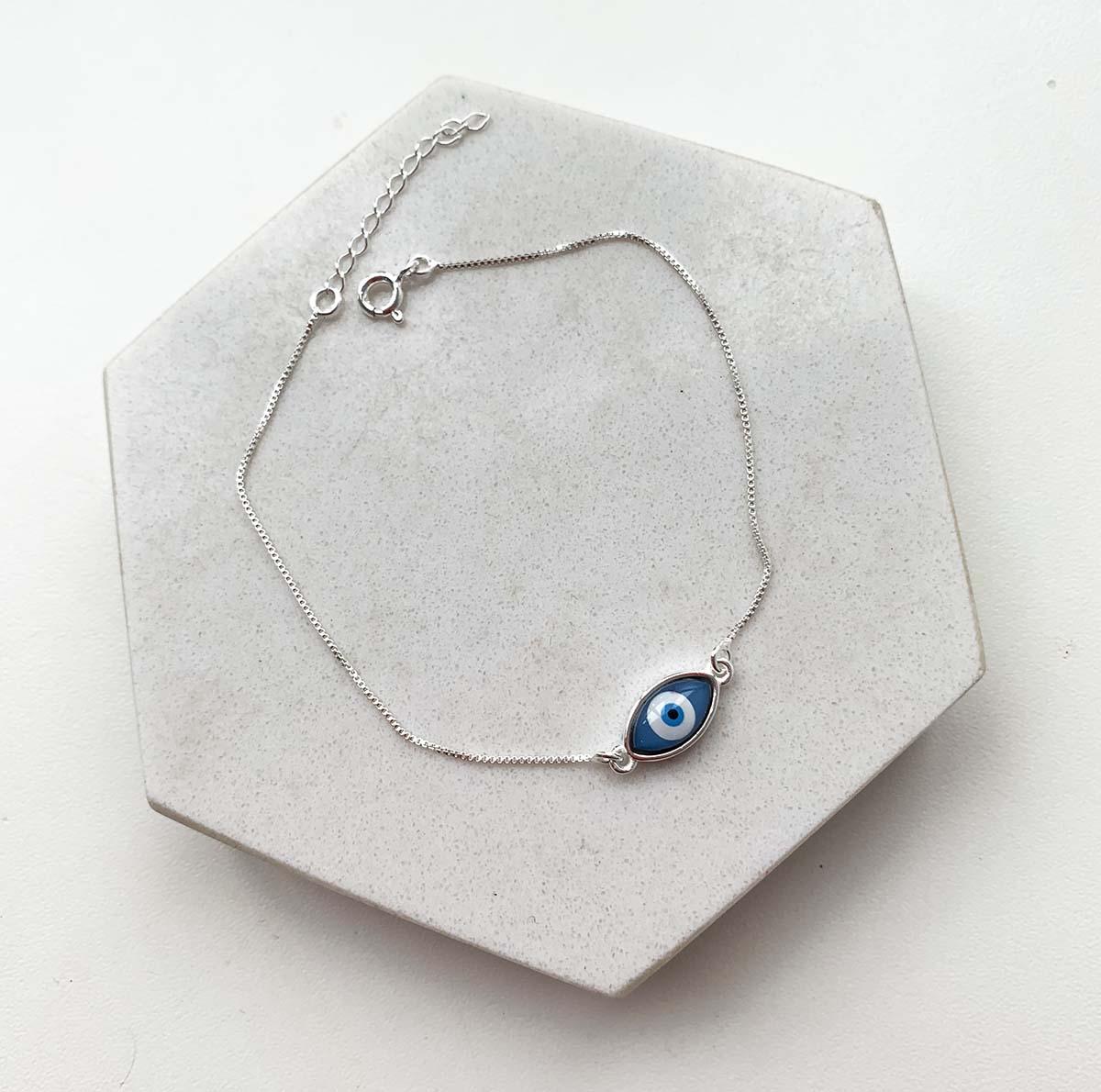 Brinco Pedra Azul Bijuteria