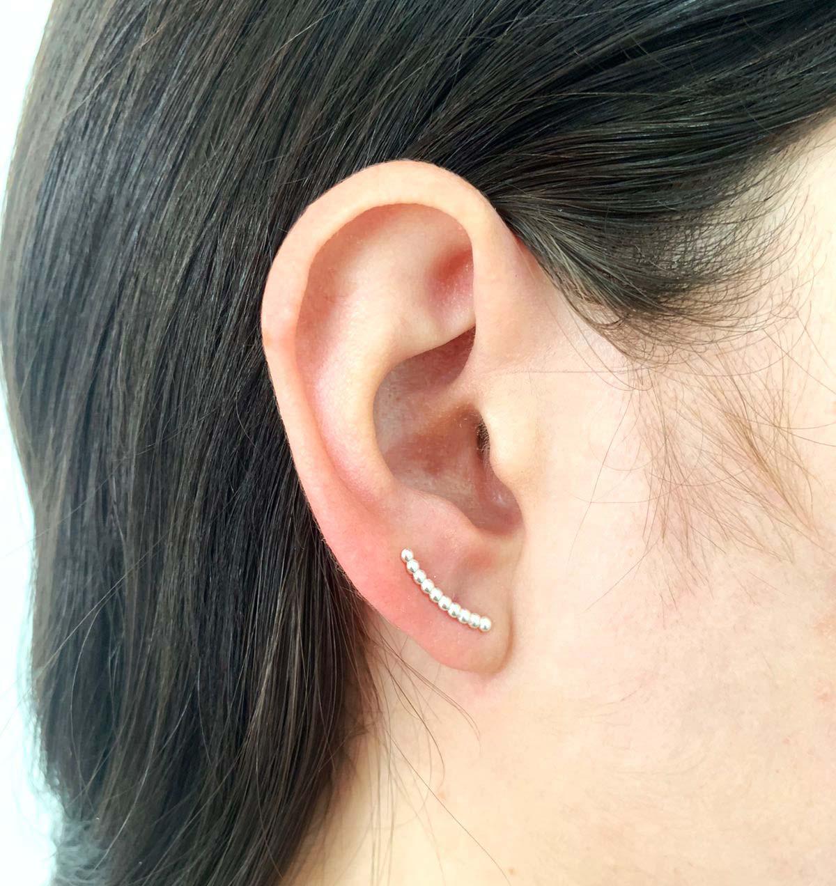 Ear Cuff Bolinhas Prata 925