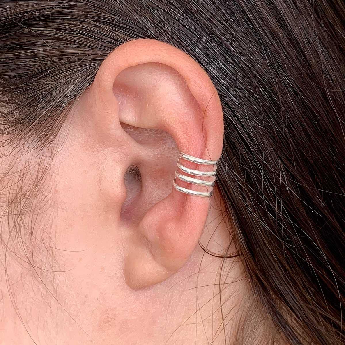 Piercing de Prata Fake 4 Linhas