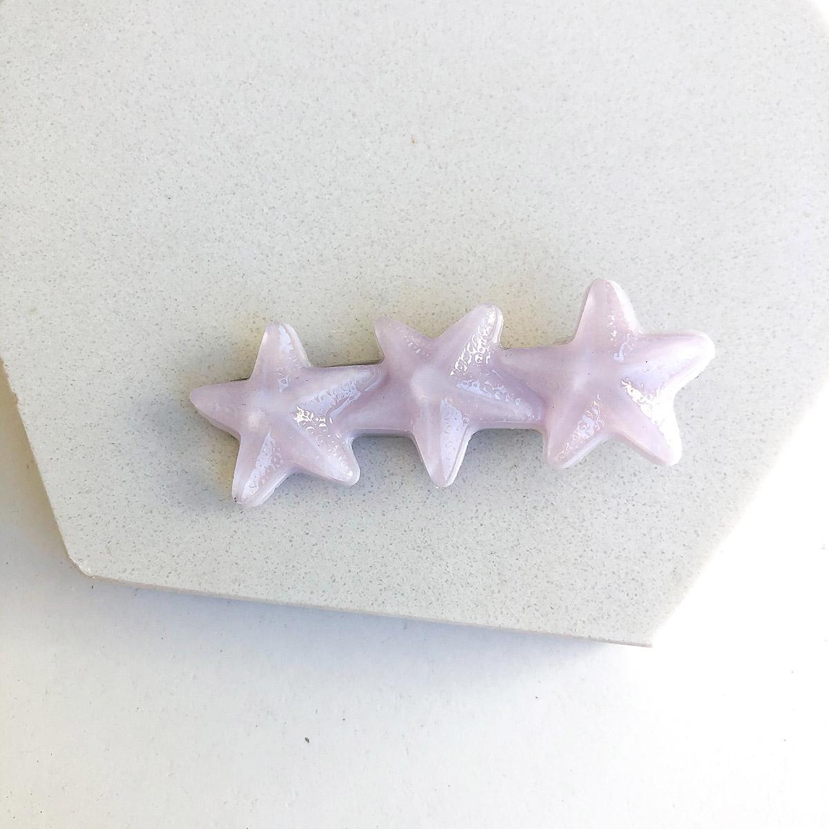 Presilha Três Estrelas Lilás