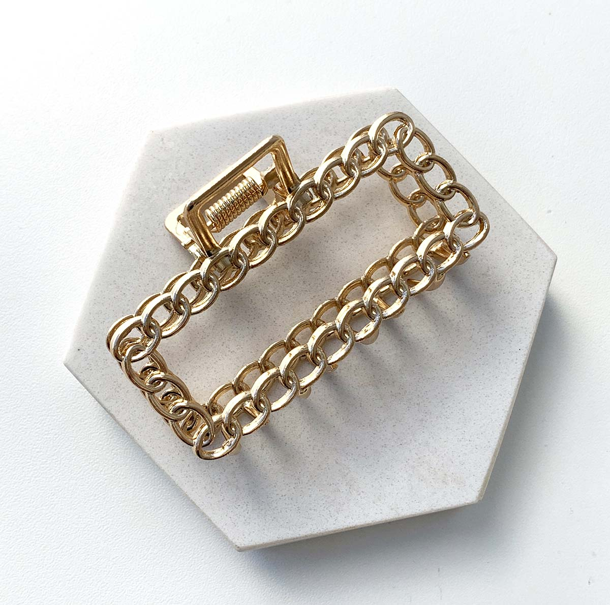 Presilha Vitoria Metal Retangular Elos Dourado