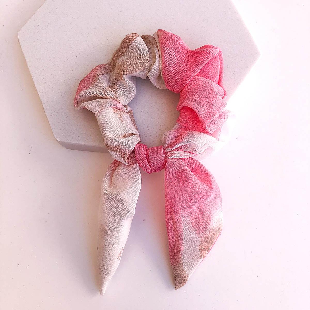 Scrunchie Tie Dye Rosa e Marrom