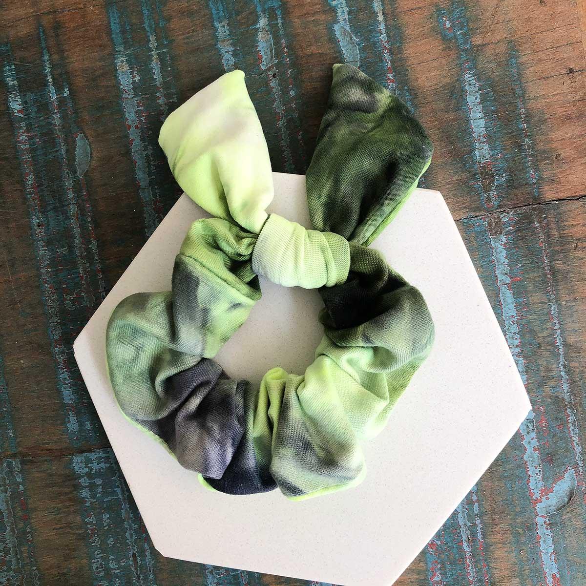 Scrunchie Tie Dye Verde