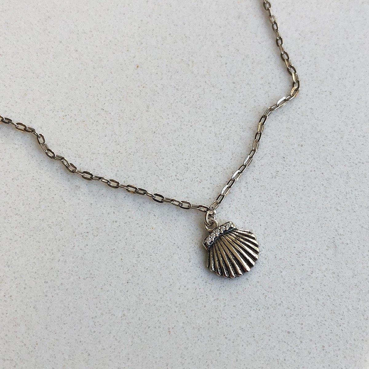 Tornozeleira de Prata 925 Conchas