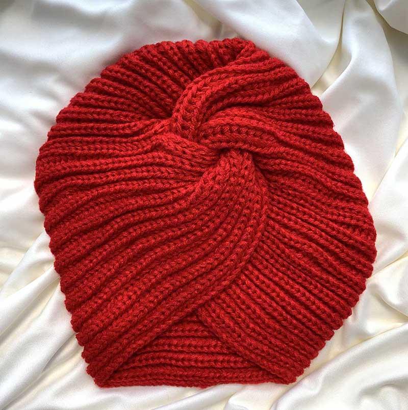 Touca Vintage Nó Vermelho