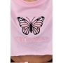 CAMISETA CROPPED BUTTERFLY ROSA