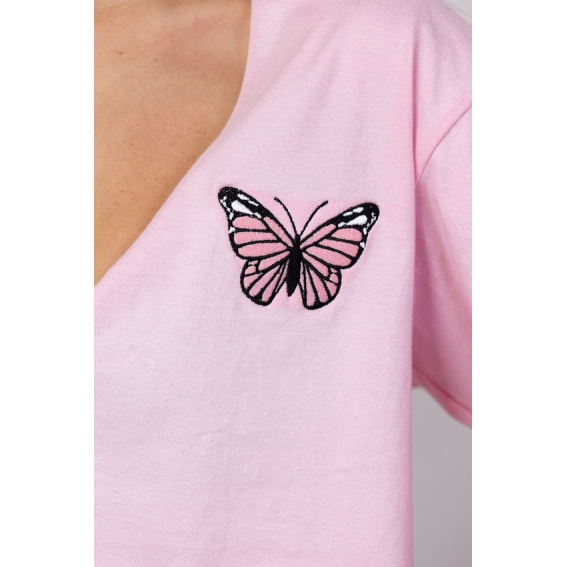 CAMISETA CROPPED V BUTTERFLY