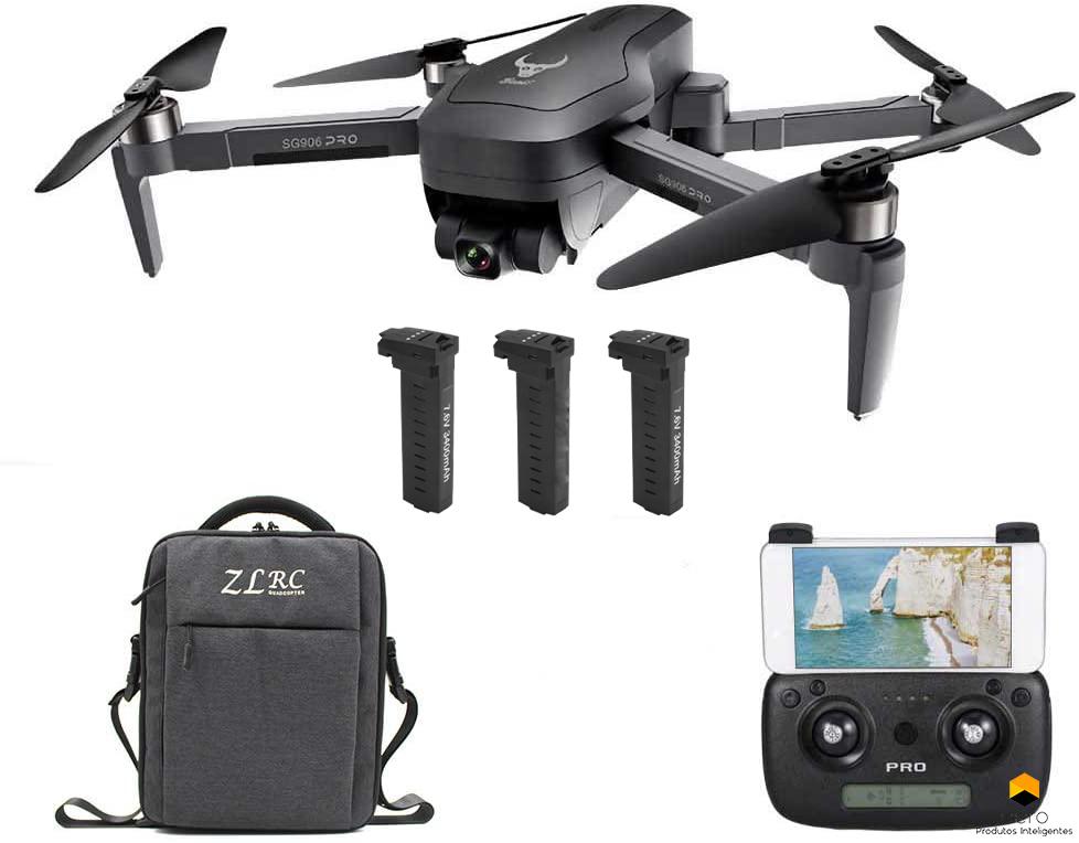 Drone Zlrc Beast Sg906 Pro. 1,2 Km, 4 K, Com 3 Baterias, Micro SD 32