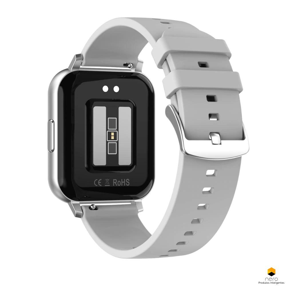 Smartwatch Dt No.1 Dtx Silver Tela Infinita Ecg+bpm+spo2