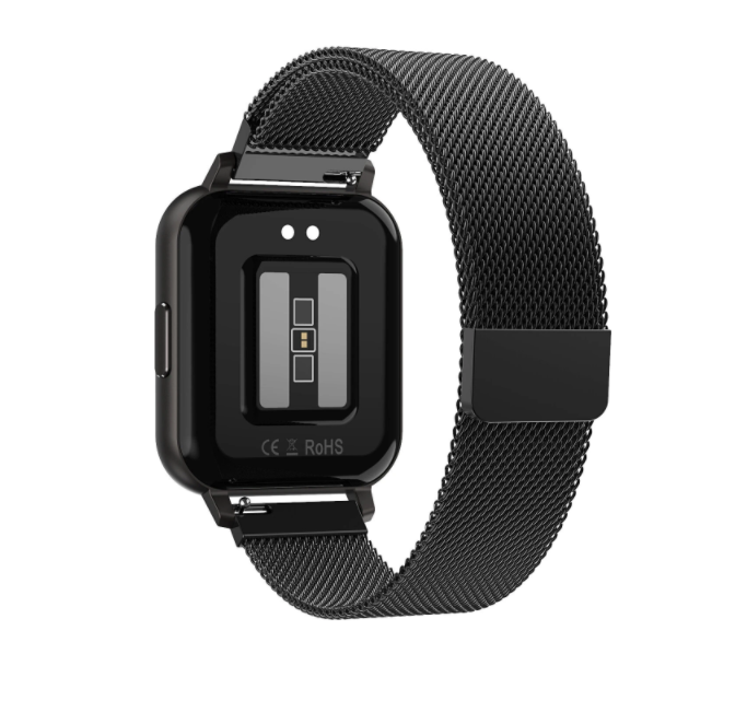 Smartwatch Dtno.1 Dtx Black Metal Tela Infinita Ecg+bpm+spo2