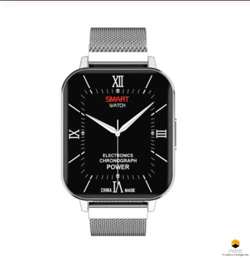 Smartwatch Dtno.1 Dtx Silver Metal Tela Infinita Ecg+bpm