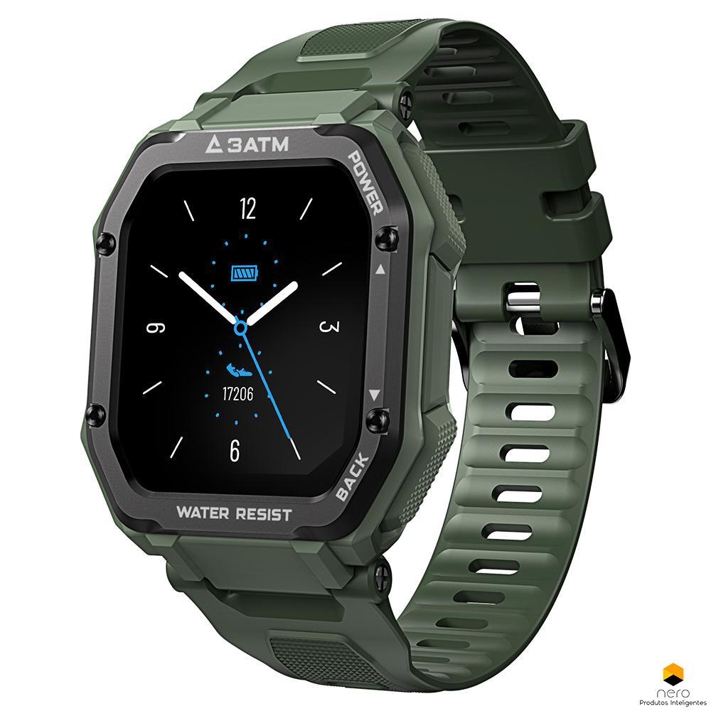 Smartwatch Kospet  Rock Green Anticolisão Spo2/bpm