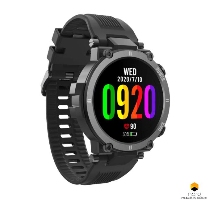 Smartwatch Kospet Raptor Black Anticolisão Ip68
