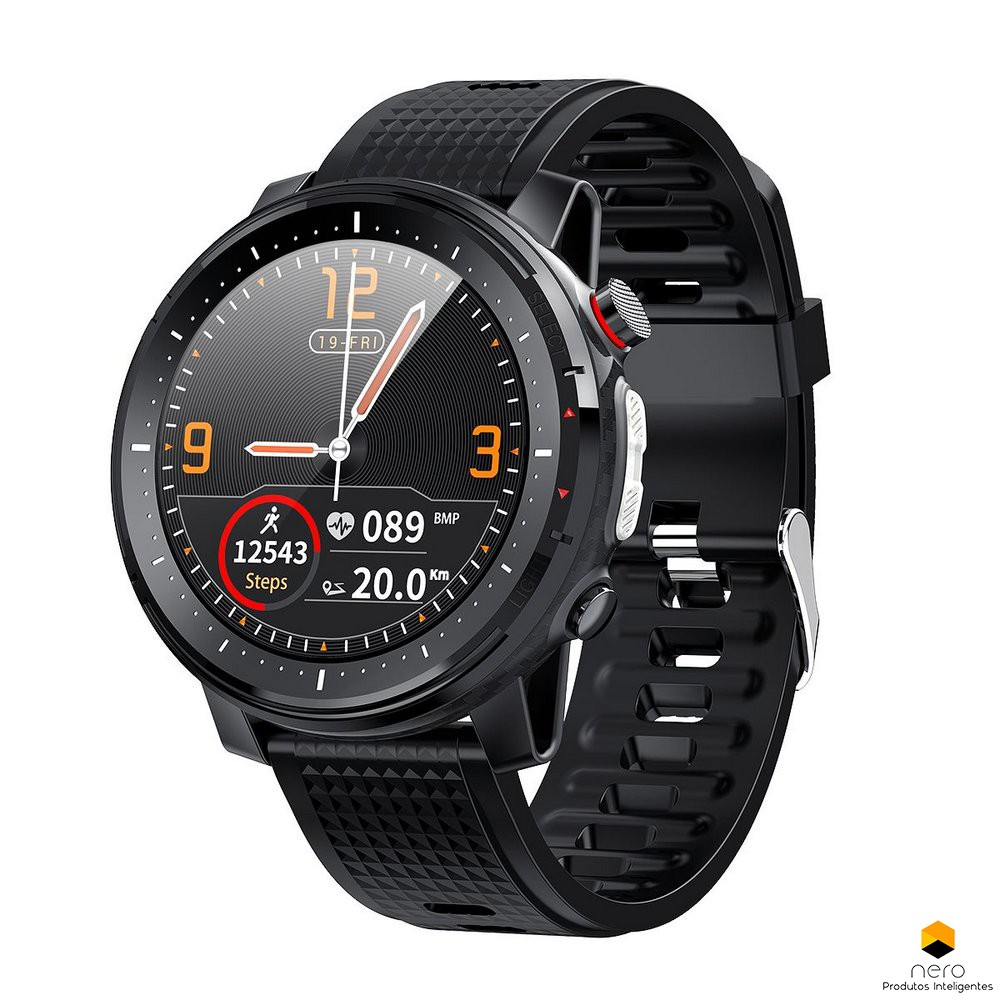 Smartwatch Microwear L15 Black Ecg+spo2+bpm