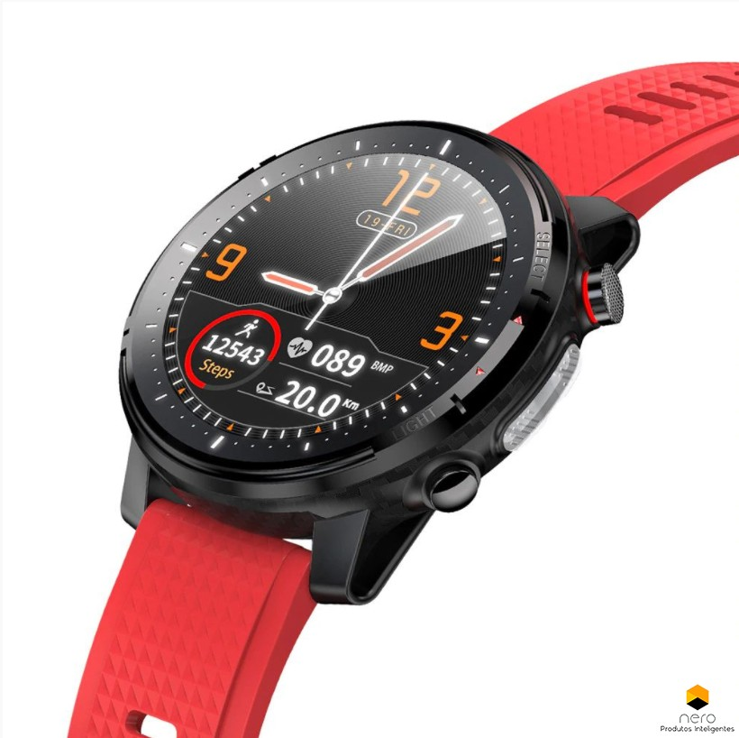 Smartwatch Microwear L15 Red Ecg+spo2+bpm