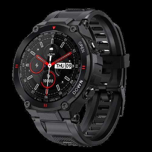Smartwatch Senbono K22 Black Chamada Bluetooth