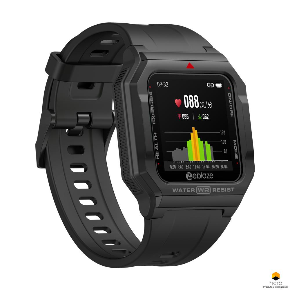 Smartwatch Zeblaze Ares Black Monitor Pressão Arterial/cardíaco