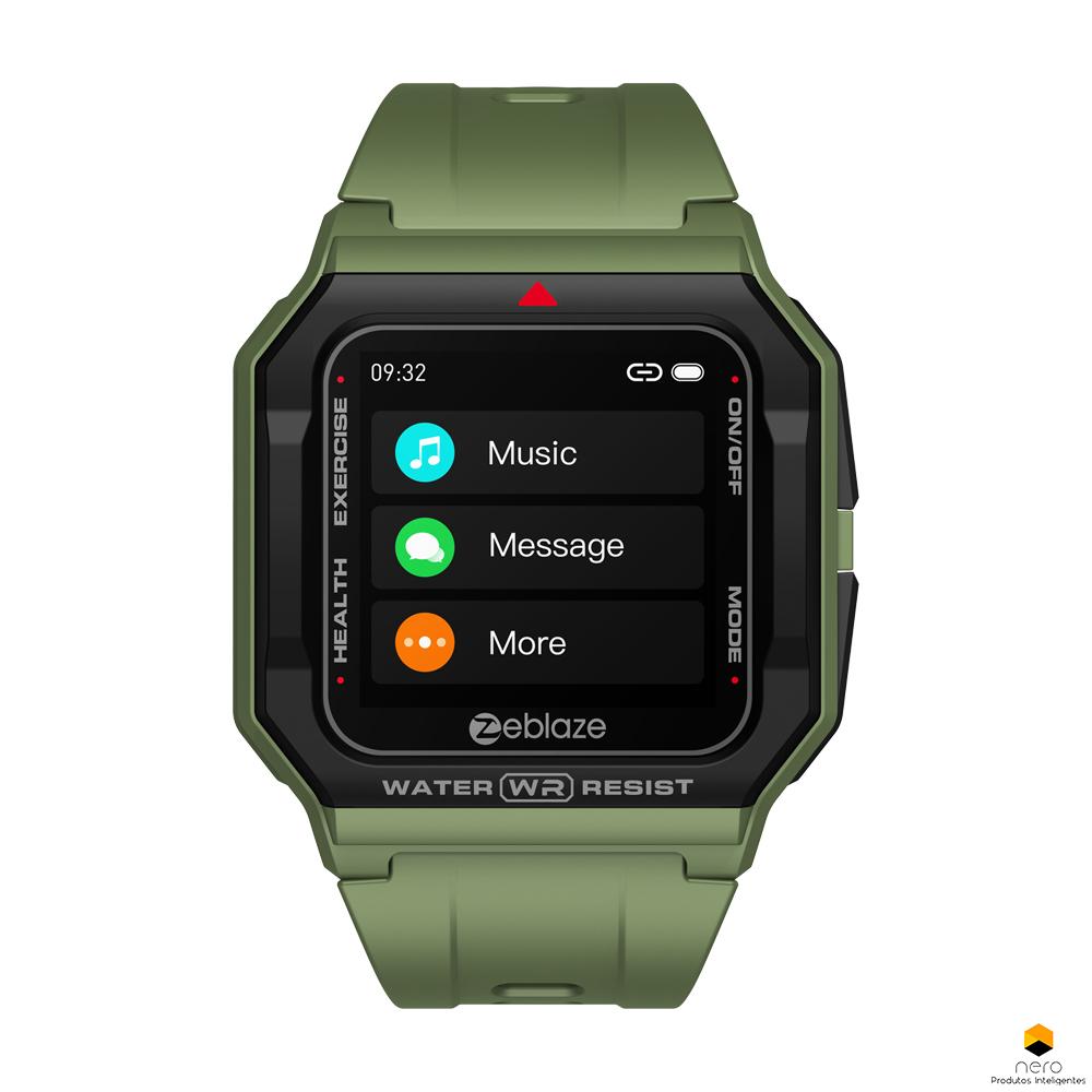 Smartwatch Zeblaze Ares Green Monitor Pressão Arterial/cardíaco