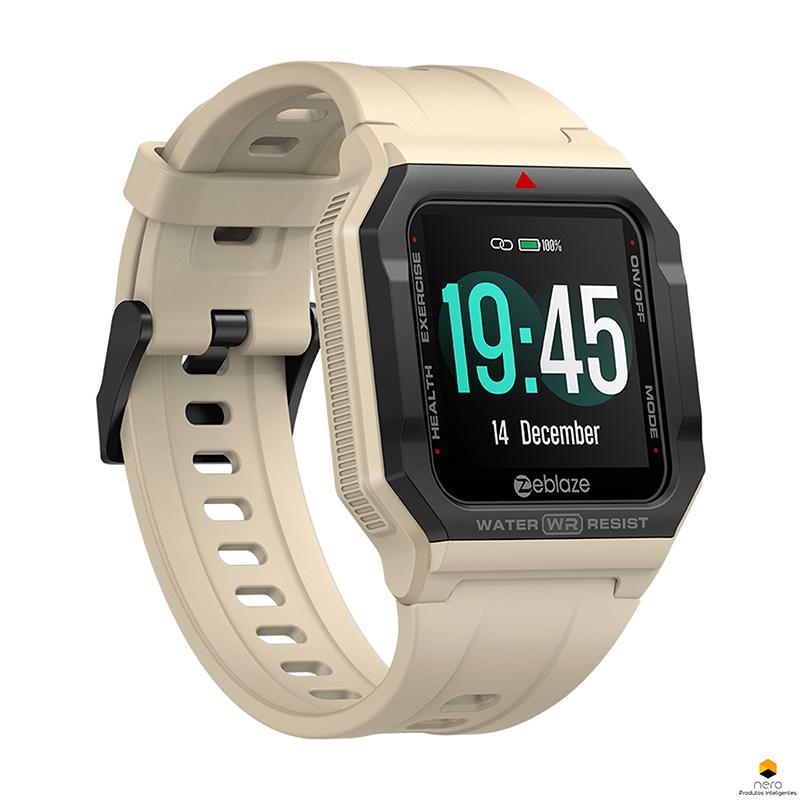 Smartwatch Zeblaze Ares Khaki Monitor Pressão Arterial/cardíaco