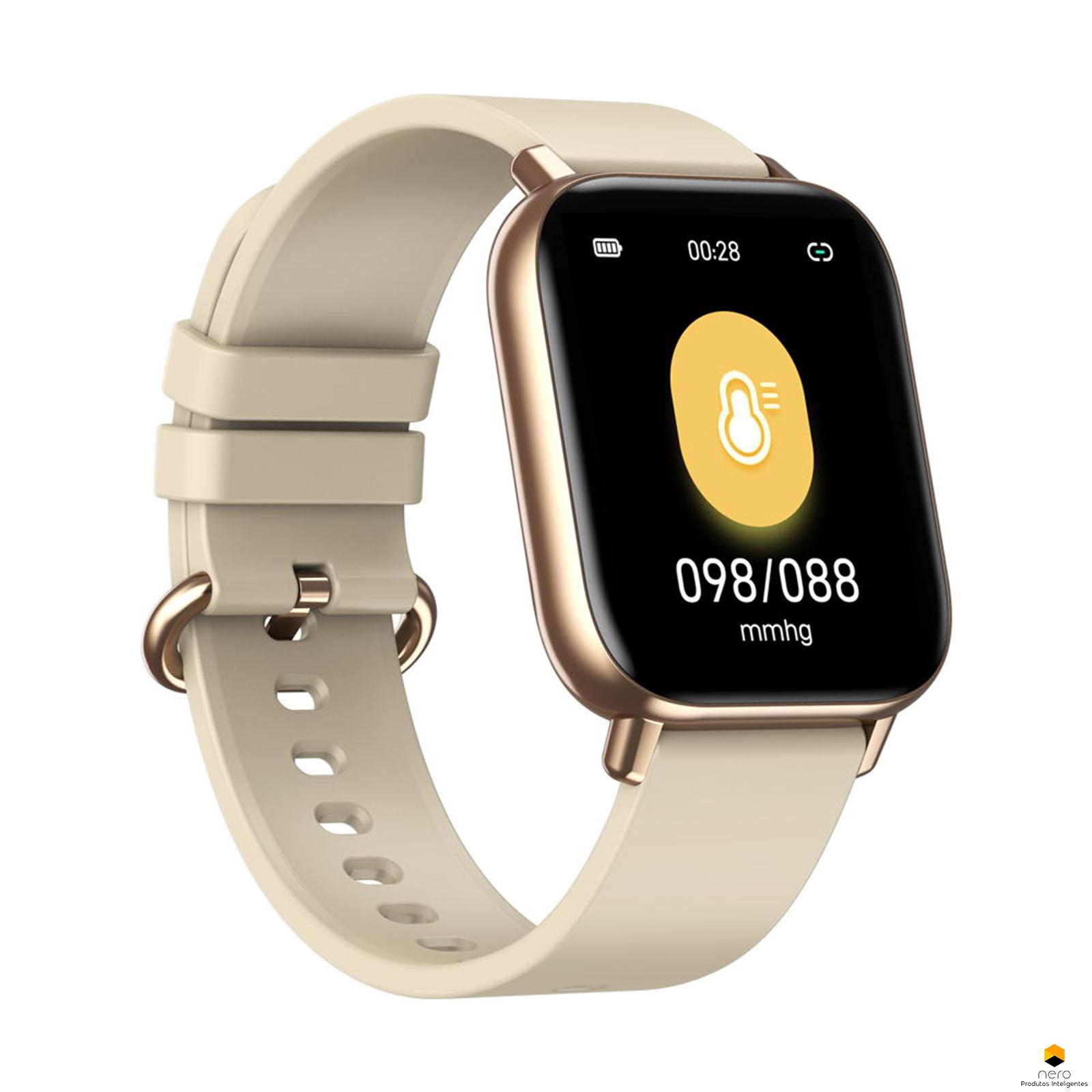 Smartwatch Zeblaze Gts Pro Gold Spo2/bpm 15 Dias De Bateria