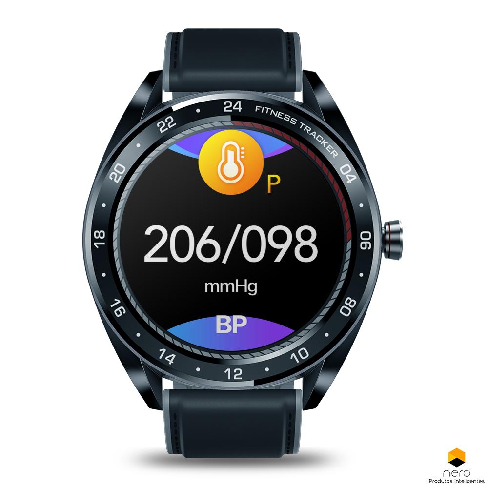 Smartwatch Zeblaze Neo Black Pressão Sanguínea e Bpm