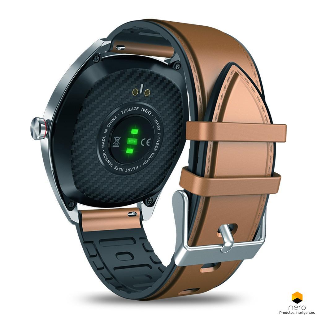 Smartwatch Zeblaze Neo Brown Pressão Sanguínea E Bpm