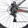 BICICLETA TSW RIDE R29 21V VERMELHO/CINZA 2021