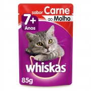 Whiskas Sachê Carne Ao Molho 7+ 85g