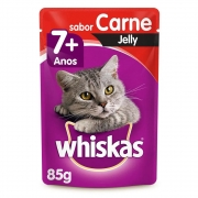 Whiskas Sachê Jelly Carne 7+ 85g