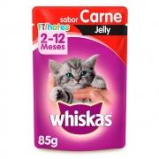 Whiskas Sachê Jelly Filhotes Carne 85g