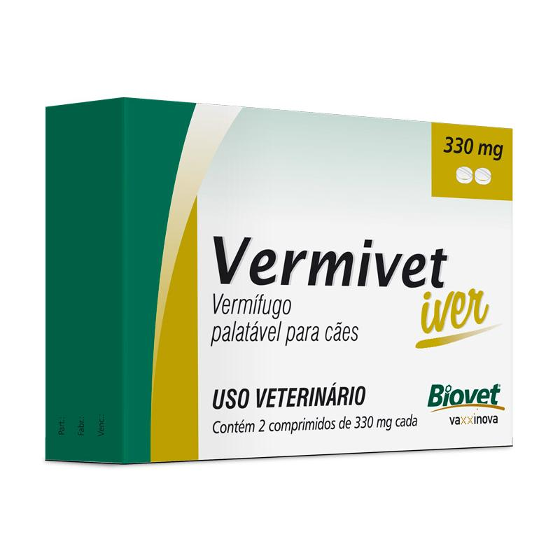 Biovet Vermivet Iver 330mg - 2 Comprimidos
