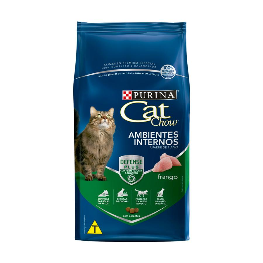 Cat Chow Ambientes Internos Adulto Frango
