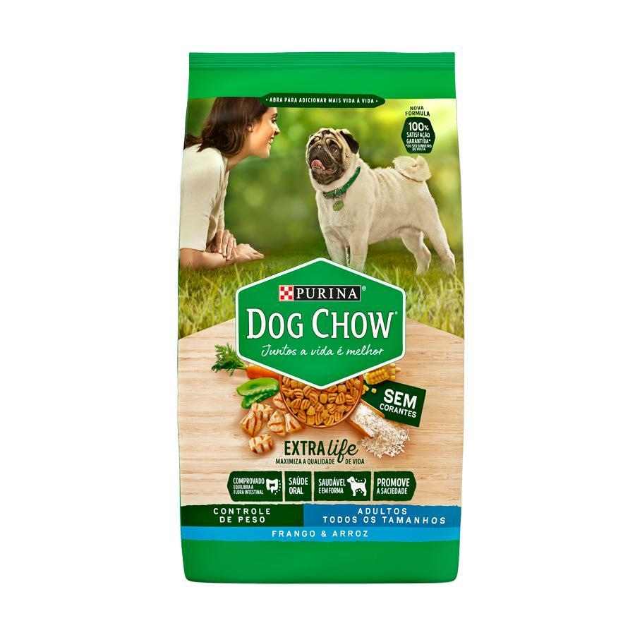 Dog Chow Extra Life Adulto Cont/Peso Frango