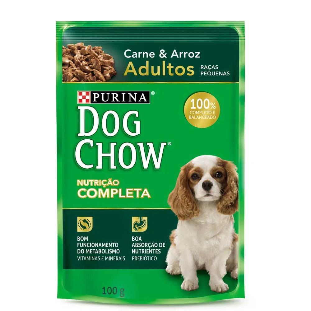 Dog Chow Sache Adultos R/P Carne Ao Molho 100g