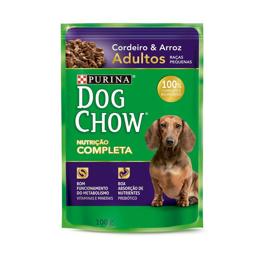 Dog Chow Sache Adultos R/P Cordeiro e Arroz 100g